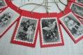 Lot de 10 étiquettes noël (n°7) vintage / rouge