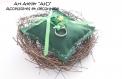 Coussin d'alliances nid d'oiseau pour le mariage éco ou woodland disponible