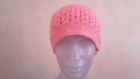 Bonnet de couleur rose