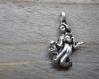 Pendentif vierge 3d en métal argenté