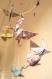 Mobile bébé bebe origami suspension chambre enfant bébé en origami animaux oiseau cigogne étoile