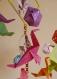 Mobile bebe bois suspension chambre enfant bébé en origami animaux otarie