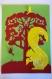 Cadre en papier découpé pour décoration bebe chambre d'enfant et de bébé animaux écureuil rouge vert jaune