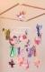 Mobile bebe bois suspension chambre enfant bébé en origami animaux écureuil