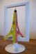 Cadre en papier découpé pour décoration chambre salon tour eiffel 3d  bicolore vert orange
