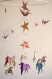 Mobile suspension en spirale chambre enfant bébé en origami licorne étoile grue bebe