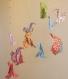 Mobile d'origami suspension en spirale chambre enfant bébé animaux écureuil lapin bebe