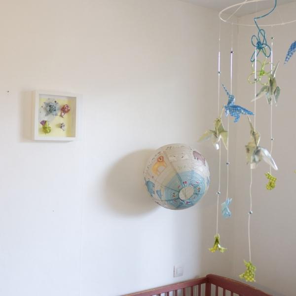 Cadre origami bébé décoration chambre enfant animaux fleur escargot ...