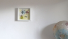 Cadre origami bébé décoration chambre enfant animaux fleur escargot nénuphar vert mint bleu orange babyshower