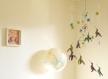 Mobile bébé origami suspension en spirale chambre enfant bébé animaux oiseau colibri étoile fleur bleu vert rose bebe