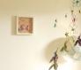 Cadre origami bébé décoration chambre enfant animaux licorne fleur papillon rose violet vert jaune babyshower