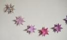 Guirlande bébé origami étoile rose violet parme pour décoration chambre d'enfant
