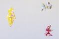 Mobile bébé origami suspension en bois chambre enfant bateau voilier poisson méduse babyshower bleu, beige, jaune, orange