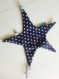 Doudou étoile accroche sucette