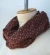 écharpe infinie femme, foulard violet motif, cadeau pour elle, tour de cou tube, écharpe printemps été, écharpe tissu souple