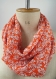 Foulard floral, foulard fleurs, foulard femme, foulard fait main, cache col, écharpe fleurs, idée cadeau femme, écharpe boucle, cadeau femme