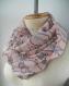 écharpe rose femme tissu, snood femme rose, tour de cou rose femme, écharpe infinie femme, snood tissu rose, écharpe ronde pour femme