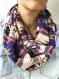Snood femme, écharpe infinie, foulard inca, écharpe etnic, foulard de boucle, écharpe cercle, cadeau femme, cadeau maman, foulard bohémien, echarpe, snood, foulard