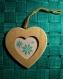 Coeur brodé flocons à suspendre