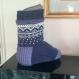 Grande chaussette de plâtre, large chaussette,   chaussette xl chaude, pure laine
