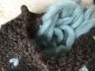Chaussons femme  laine de chameau fourrés en pure laine vierge .tricotés main . made in france. yoga, montagne, voyage, avion, camping