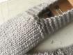 Chaussons homme pure laine, 41/43 tricotés main, intérieur, lit, avion, convalescence, yoga, bivouac, camping, montagne, chirurgie pied