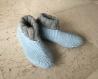 Chaussons femme en pure laine, 38/40, chaussons tricotés, chaussons de lit, avion, voyage, chaussons montants, chaussons après chirurgie