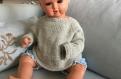 Gilet bébé en pur alpaga très doux,  tricoté main, 3/6/9 mois. brassière bébé, gilet gris alpaga, chaud, hypoallergenic et doux.