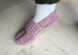 Chaussons femme, chaussons en laine, chaussons lilas, chaussons chauds, chaussons épais, chaussons de lit, de convalescence, chirurgie du pied