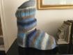 Chaussette de plâtre, chaussette pour pied plâtré, protection pour plâtre, chaussette en laine pour plâtre.