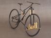 Vélo vtt miniature en fil aluminium