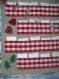 Calendrier de l'avent à carreaux rouge et blancs - décoration de noël