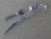 Marque-pages violet et argenté