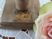 Porte-bijoux, porte-clefs shabby romantique revisité ancienne jeannette fin du xix° siècle chinée en brocante
