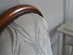 Fauteuil voltaire forme violon, style louis philippe : elisa  (vendu)