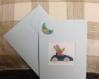 Carte anniversaire ou fête 110x155 mm brodée point de croix