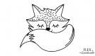Renard renardeau cute kawaii flex thermocollant applique