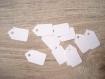 20 mini étiquettes vierges couleur blanc ou ivoire - etiquettes de prix