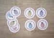 8 étiquettes joyeuses pâques - emballage cadeau ou décoration