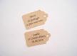 10 étiquettes kraft - mariage, baptême,... - a personnaliser