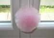 Petit pompon en tulle rose - décoration de mariage ou décoration romantique - couleur au choix