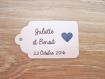 10 grandes étiquettes coeur métallisé - mariage, baptême, anniversaire,... - a personnaliser