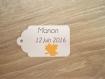 10 grandes étiquettes feuilles - mariage, baptême, anniversaire,... - a personnaliser