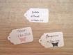 10 grandes étiquettes papillon métallisé - mariage, baptême, anniversaire,... - a personnaliser