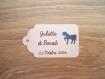 10 grandes étiquettes cheval métallisé - mariage, baptême, anniversaire,... - a personnaliser