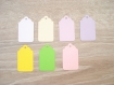 10 étiquettes vierges - couleur et taille au choix