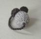 Souris grise & noire accessoire déguisement sorcière halloween  en laine tricotée main
