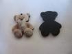 Une breloque forme petit ourson,modèle beige/creme;23*12 mm pour creation bijoux,mobile chambre bébé