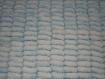 Couverture bebe laine maxis pompons blanche et bleue