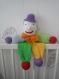 Clown pantin doudou décoration chambre enfant nouveau né cadeau bébé naissance baptème